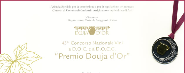 """""""Douja D'Or award"""", 43th national D.O.C. and D.O.C.G. wine competition."""