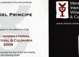 Moscato d'Asti D.O.C.G. 2007 e Dolcetto d'Alba D.O.C. 2006 Merano Wine Festival.